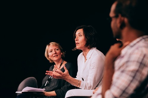 Annie Ryan at The Art of Theate Adaptation discussion